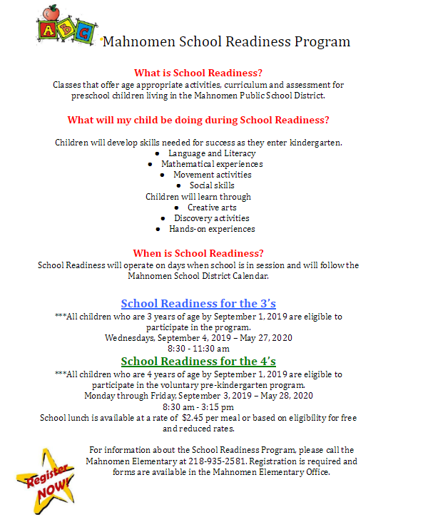 School Readiness 2019
