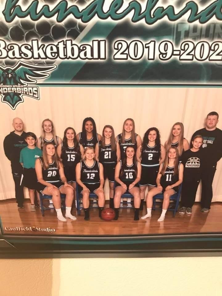 Girls basketball team.