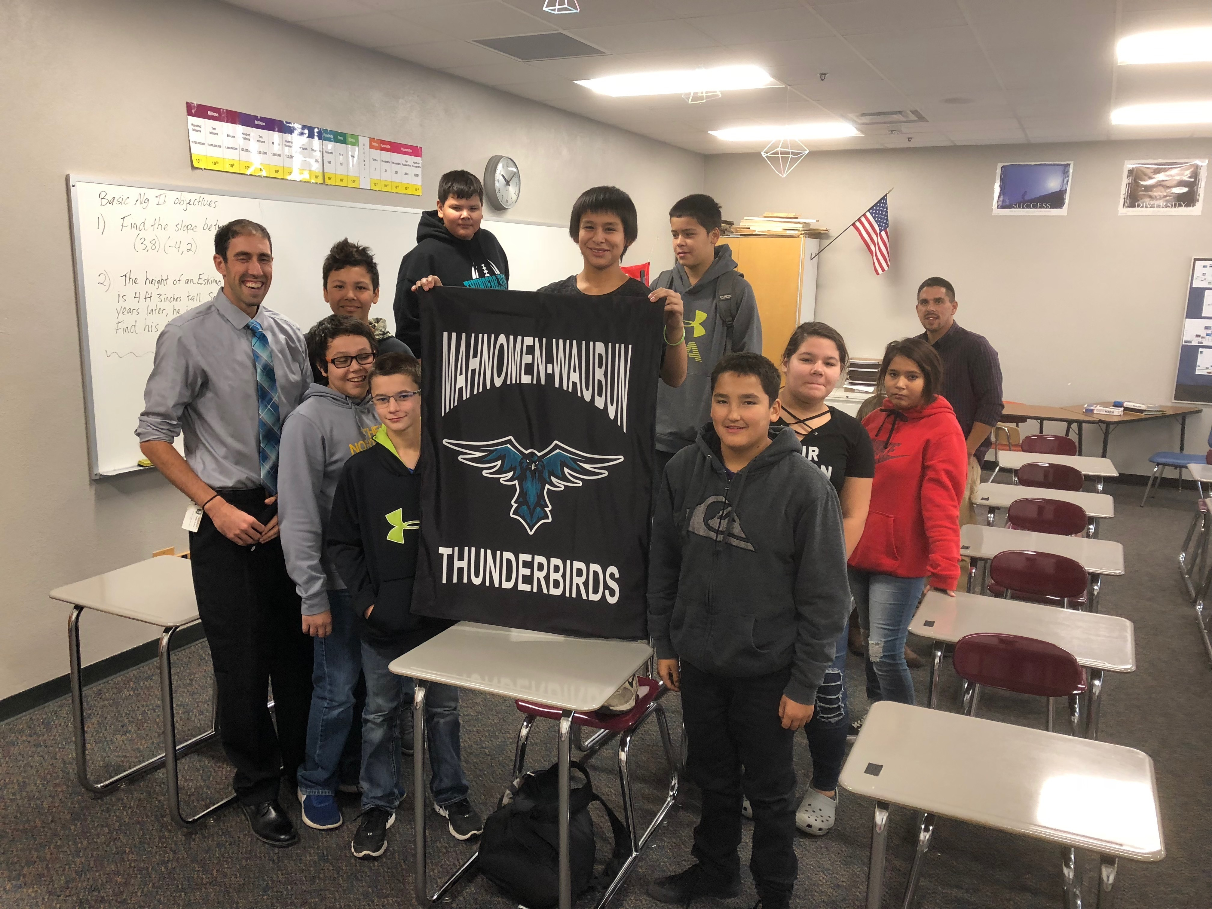 Jr High Students showing their Thunderbird Pride